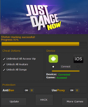 Взлом Just Dance Now
