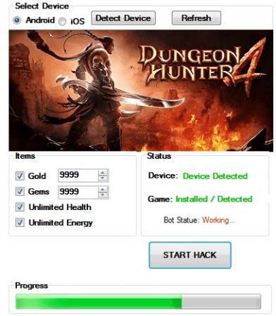 Чит на Dungeon Hunter 4