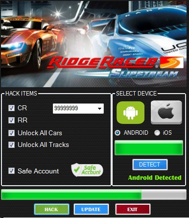 ЧИТ Ridge Racer Slipstream. ВЗЛОМ на CR, RR + UNLOCKMOD.