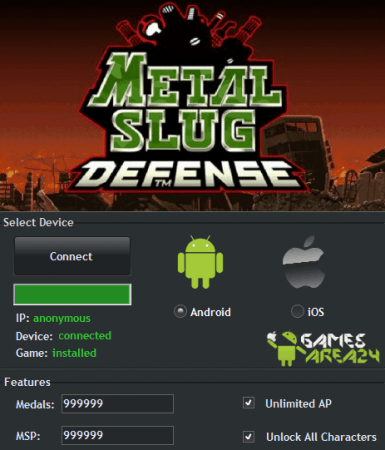 ЧИТ METAL SLUG DEFENSE. ВЗЛОМ на медали и MSP.