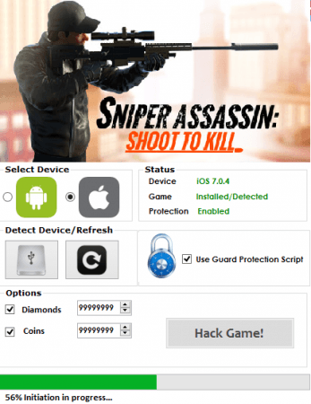 Чит на  Sniper 3D Assassin
