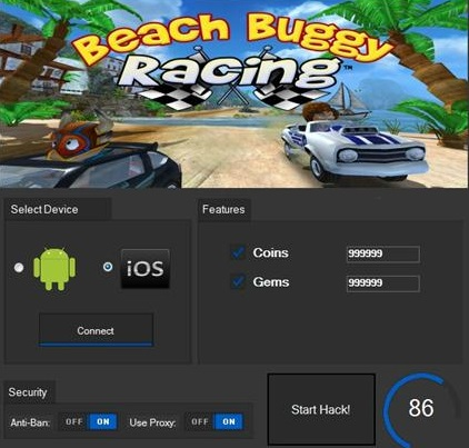 ЧИТ Beach Buggy Racing. ВЗЛОМ на монетки и кристаллы.