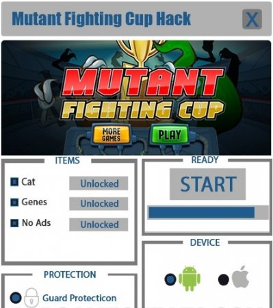 Взлом Mutant Fighting Cup
